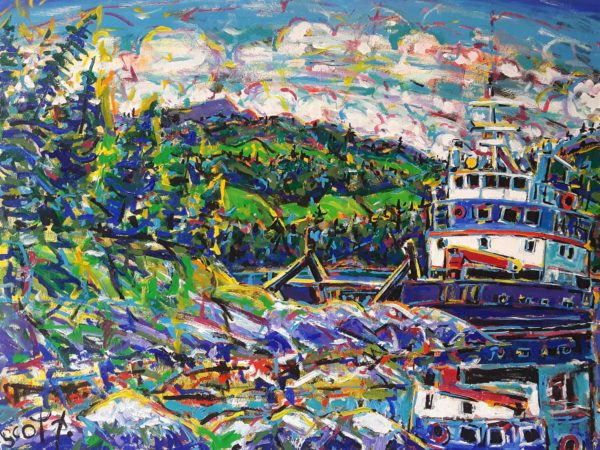 Brian Scott Fine Arts Canadian Oil Painter-Orchard Bay Quadra Island 30 x 40 inches