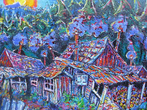 Brain Scott Fine Arts Canadian Oil Painter-China Town 30 x 40