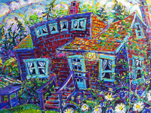 Brain Scott Fine Arts Canadian Oil Painter-Haig Brown House-Campbell River 24 x 36