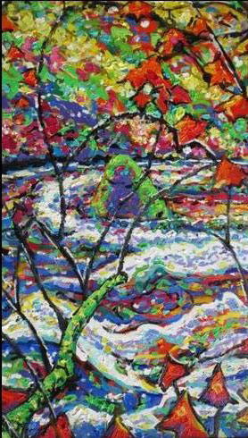 Brain Scott Fine Arts Canadian Oil Painter-Black Creek Maples 30 x 40