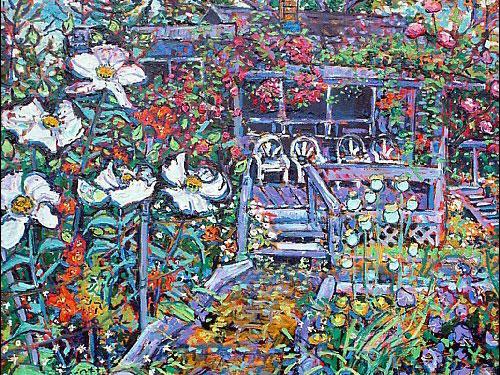 Brain Scott Fine Arts Canadian Oil Painter-Hillary Brown Garden 24 x 30